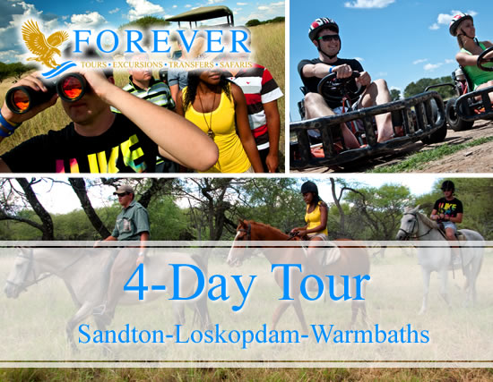 4 Day Tour: From Sandton to Loskopdam via Warmbaths